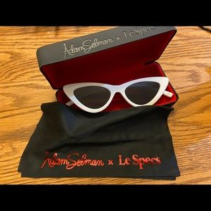White Cat eye sunglasses by Adam Selman